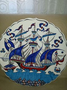 Tile Art, Glass Art, Nautical, Floral Design, Boat, Plates, Drawings, Tableware, Cards