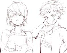 쉬다오는별토끼렉스 (@zhdskanf10)   Twitter. Nathaniel and Adrien coloring pages
