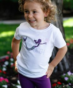 Love this White 'Live Laugh Love' Mermaid Tee - Girls by Live Laugh Love on #zulily! #zulilyfinds