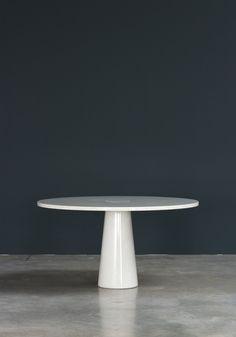 Angelo Mangiarotti Eros Carrara marble dinning table Skipper | furniture-love.com | DesignAddict