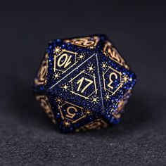 Dungeons And Dragons Dice, Dragon Dies, Blue Zircon, Gold Ink, Hand Engraving, Mind Blown, Wool Felt, Decir No, Astrology