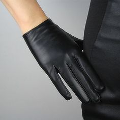 New TECH GLOVES Real Leather Short Black Genuine Lambskin Sheepskin Touchscreen Womens Accessories. Fashion is a popular style Black Leather Gloves, Leather Hats, Leather Accessories, Real Leather, Lambskin Leather, Leather Jacket, Red Gloves, Lace Gloves, Fingerless Gloves Crochet Pattern