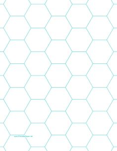 This letter-sized hexagon graph paper is spaced with hexagons an inch apart. Free to download and print