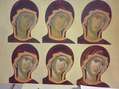 Зоя Крохина Painting Process, Painting Lessons, Painting Techniques, Byzantine Icons, Byzantine Art, Religious Icons, Religious Art, Writing Icon, Christian Paintings