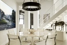 Image detail for -luxurious white dining room design Decorating with Bright, Modern ...