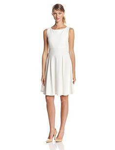 Tiana B Women's Sleeveless Solid Fit and Flare Dress, Ivory, 6 Tiana B http://www.amazon.com/dp/B00JJOU8CI/ref=cm_sw_r_pi_dp_n3T8tb1X261P6