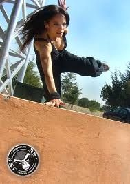agility, strength, control. just badassness in a feminine frame ~ parkour (=