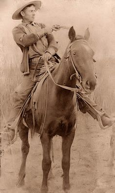 """Will Roberts. He was a train robber in the late 1800's and went by the name """"Dixon"""". I believe that he might have rode with Butch Cassidy and the Wild Bunch, but I am not for sure that this is the same Will Roberts. This photograph was distributed to Pinkerton Agents who were searching for the outlaw."""