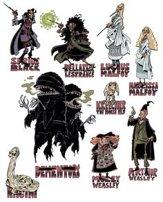 Harry Potter redesigns by Schweizercomics on tumblr. Those Dementors are awesome!