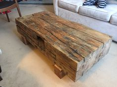 Reclaimed Pier Timber Coffee Table http://ift.tt/2h4GFiH