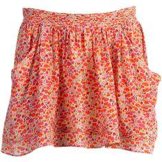 Athe-Vanessa Bruno Jupe Soie Imprimé Calypso  A skirt with pockets needs to make it to my closet!