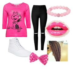 """pink outfit"" by samariam on Polyvore featuring Passport, Vans, Palm Beach Jewelry and Christian Dior"