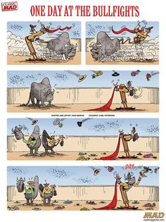 Don Martin: One Day At The Bullfights #mad #magazine #donmartin