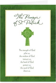 Prayer of St. Patrick St Patrick's Day Card