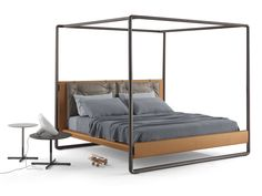 Canopy bed VOLARE THE NIGHT - Beds Collection by Poltrona Frau | design Roberto Lazzeroni