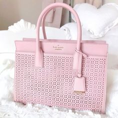 Love, Catherine   Kate Spade Pink Cedar Street Perforated Lacey Bag