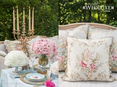 Marie Antoinette inspired decor. WedLuxe Magazine