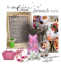 """#brunch"" by crisvalx-cv ❤ liked on Polyvore featuring Anthropologie, Emilio Pucci, Salvatore Ferragamo and Via Spiga"