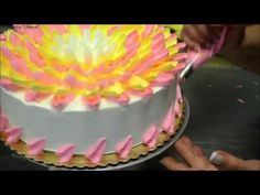 The Most Satisfying Videos In The World, Amazing Cake Decorating Moments Compilations in Video Series Cake Decorating Videos, Cake Decorating Techniques, Ombre Rosette Cake, Royal Icing Piping, Most Satisfying Video, Cake Borders, Chocolate Sponge Cake, Cake Youtube, Fashion Cakes