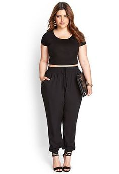 Love the black joggers! Might pair with an interesting graphic t-shirt or a tunic top and cute shoes for work.