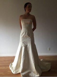 BNWT Vintage Ivory Boat neck Tea Length Lace Wedding Dress 18 22