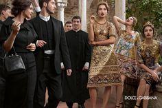 Dolce  Gabbana – Campaña publicitaria de la colección de moda femenina – Otoño/Invierno 2014