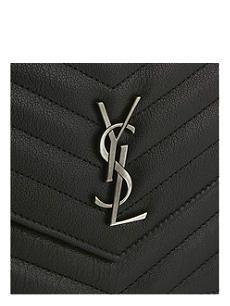 SAINT LAURENT Monogram quilted leather shoulder bag