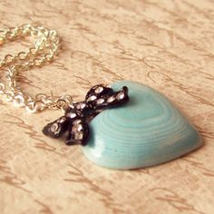 Alice Necklace with Layered Paper Heart Pendant