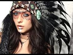 Die 8 Besten Bilder Von Schminken Indianerin Tribal Makeup