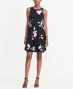 Lauren Ralph Lauren Floral-Print Trapeze Dress - Dresses - Women - Macy's