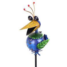 Krazy Klucker Spikey Hair Bird Garden Stake