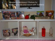 The Montessori on a Budget blog: What's on a Montessori Toddlers shelf at 12 months