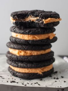 Homemade Halloween Oreos- the classic cookie sandwich all dressed up for Halloween!
