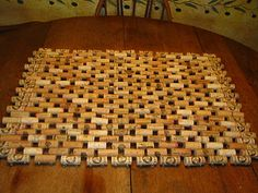 Wine cork door mat.