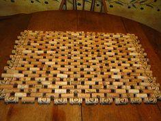 Wine cork door mat.