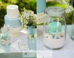 Beach wedding idea..not getting married anytime soon, but these are really cute decorating ideas :)
