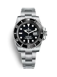 Rolex Submariner Date Watch: Oystersteel - Rolex Submariner Gold, Submariner Watch, Rolex Gmt, Rolex Datejust, Rolex Oyster Perpetual, Rolex Air King, Rolex Watches For Men, Luxury Watches For Men, Men's Watches