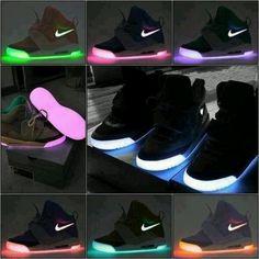 shoes neon pink purple nike black light nike lights glow glow in the dark  sneakers yeezy skate shoes 60db3d7c7