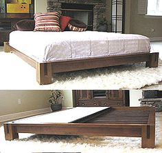 Japanese Platform Bed Frames tatami platform bed frame in natural finish - this japanese style