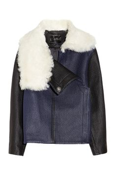 Proenza Schoulershearling-collared quilted leather jacket