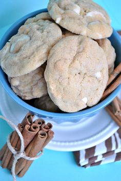 White Chocolate Snickerdoodle #Pudding #Cookies
