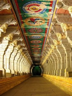Ramnathswamy Temple's Corridor of a Thousand Pillars, located in India, is the longest in any Hindu temple.