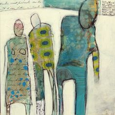 Fin måte å jobbe vidare med krokiteikningar tenker eg.... farge ob mønster.... Laga av danske Charlotte Eland