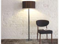 HIRST SILVER Metal Black chromed metal floor lamp base - HabitatUK