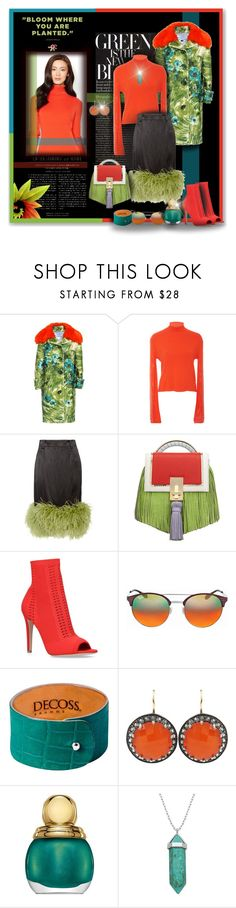 """""""Colors In Bloom"""" by angelflair ❤ liked on Polyvore featuring Prada, Edun, Trilogy, The Volon, Gianvito Rossi, Ray-Ban, Andrea Fohrman, Christian Dior and Lord & Taylor"""