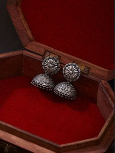 Silver Plated Handcrafted Brass Jhumkies