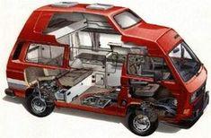 X-ray Volkswagen Vanagon Westfalia popup camper Bus Camper, Vw Caravan, Vw Bus T3, Popup Camper, Vw T3 Doka, Volkswagen Westfalia, Volkswagen Group, California Vw, Motorhome