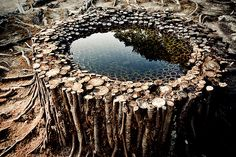 Landart - Future Compass rooted water by Ichi Ikeda by ckbo Land Art, Performance Artistique, Art Environnemental, Art Et Nature, Ephemeral Art, Wow Art, Environmental Art, Japanese Artists, Outdoor Art