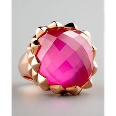 Stephen Webster Superstud Ring, Pink Agate