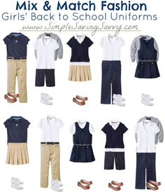 If your kids go to a school where uniforms are required, then you're in luck. We've taken 14 basic items from Target and created the ten different outfits you see above. Who knew school uniforms could be so smart and sassy?